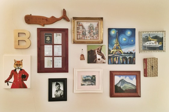 My humble gallery wall.
